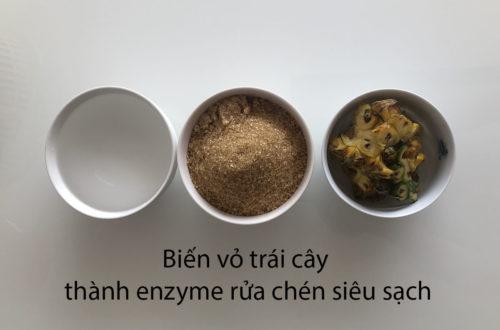 bowl of sugar, water and pineapple peels